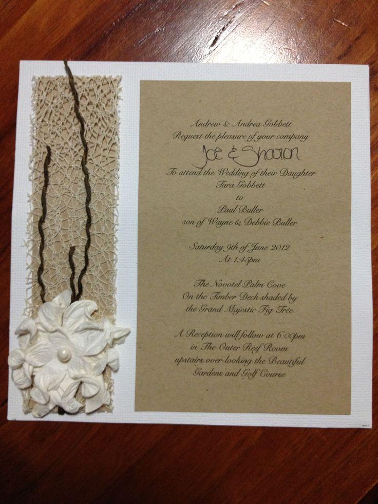 Beach/Rustic Wedding Invitation