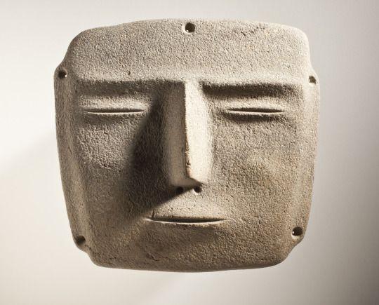Mask, Mexico, Guerrero, Mezcala, 500 BC -AD 100. Basalt. AC1993.217.4.