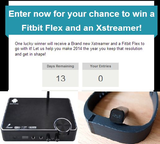13 days left to enter and win a free Xstreamer and Fitbit Flex! http://www.xstreamertv.com/#!xstreamer-contest/cdaj