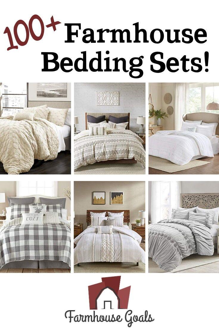 Farmhouse Bedding Farm Style Bedding Sets Farmhouse Goals In 2020 Farmhouse Bedding Sets Rustic Bedding Sets Farmhouse Bedding