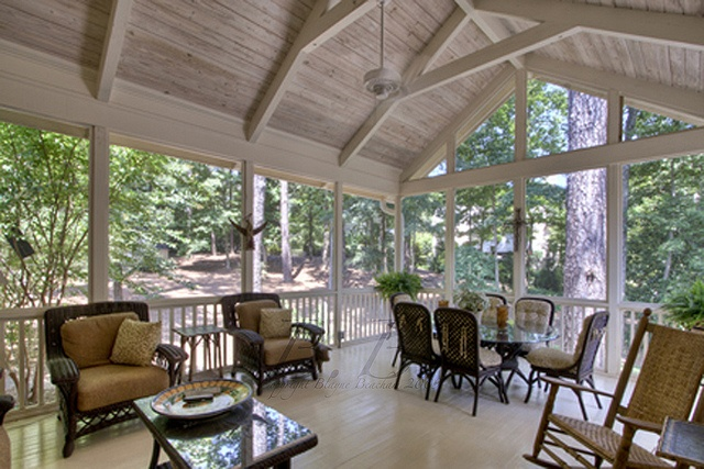 Gorgeous Back Patio Area Of A Dutch Colonial Home Porch