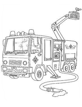 ausmalbild feuerwehrmann sam | ausmalbilder feuerwehr