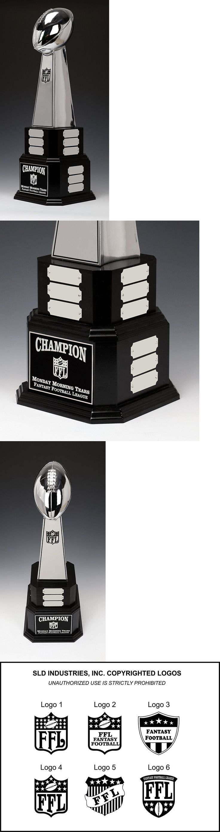 Other Football 2024: Fantasy Football Perpetual Trophy New Chrome Lombardi 21 Year Award 22 Tall -> BUY IT NOW ONLY: $199.9 on eBay!
