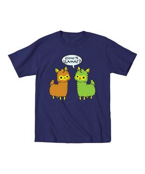 Look what I found on #zulily! Navy 'Como Te Llamas' Tee - Toddler & Kids by Ay Caramba #zulilyfinds