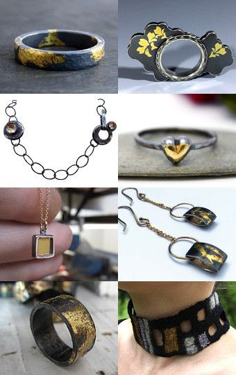 BLACK and GOLD Jewellery! by MELODY ARMSTRONG on Etsy--Pinned with…