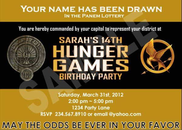 Personalized Hunger Games party invitations - it's printable!