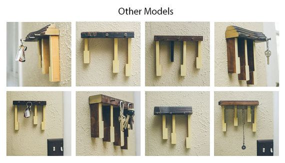 Up-cycled Piano Key Rack