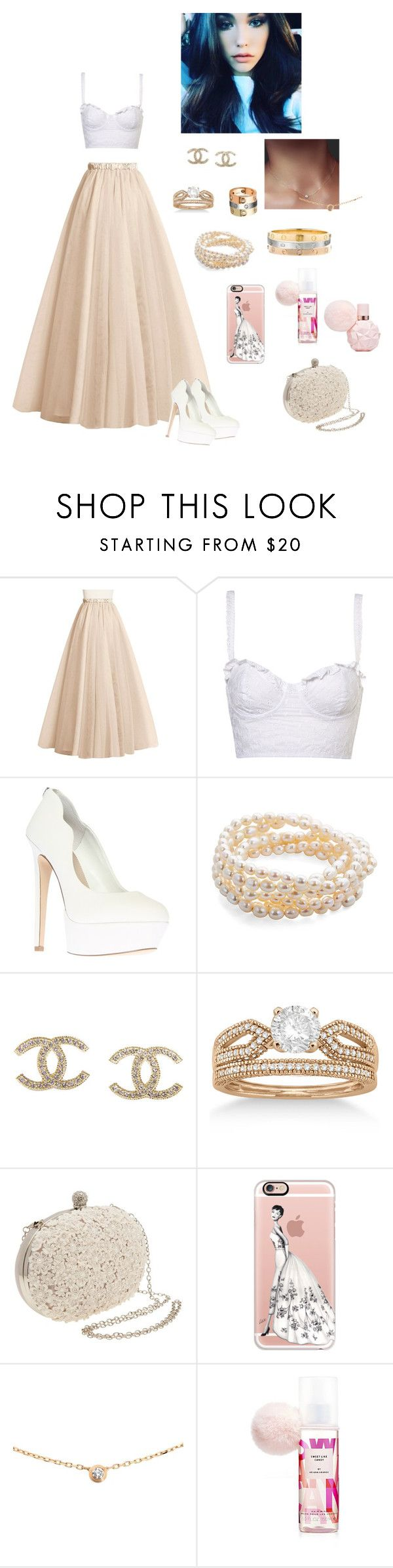 """""""Princess i am 💛💫"""" by mariaxl ❤ liked on Polyvore featuring Carvela, Catherine Canino Jewelry, Chanel, Allurez, A