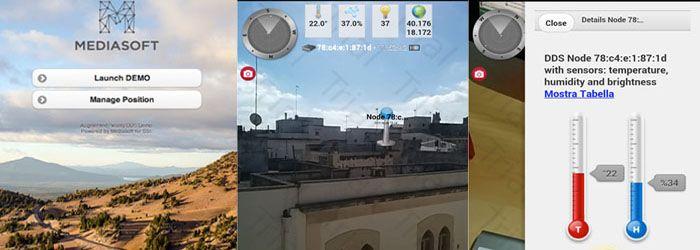 Partecipazione al Team Mediasoft per la progettazione lo sviluppo app Mobile Android per la visualizzazione in RA dei dati trasmessi da sensori ambientali. Progetto per SSI (Sistemi Software Italia) - Una società Finmeccanica - www.mediasoftonline.com
