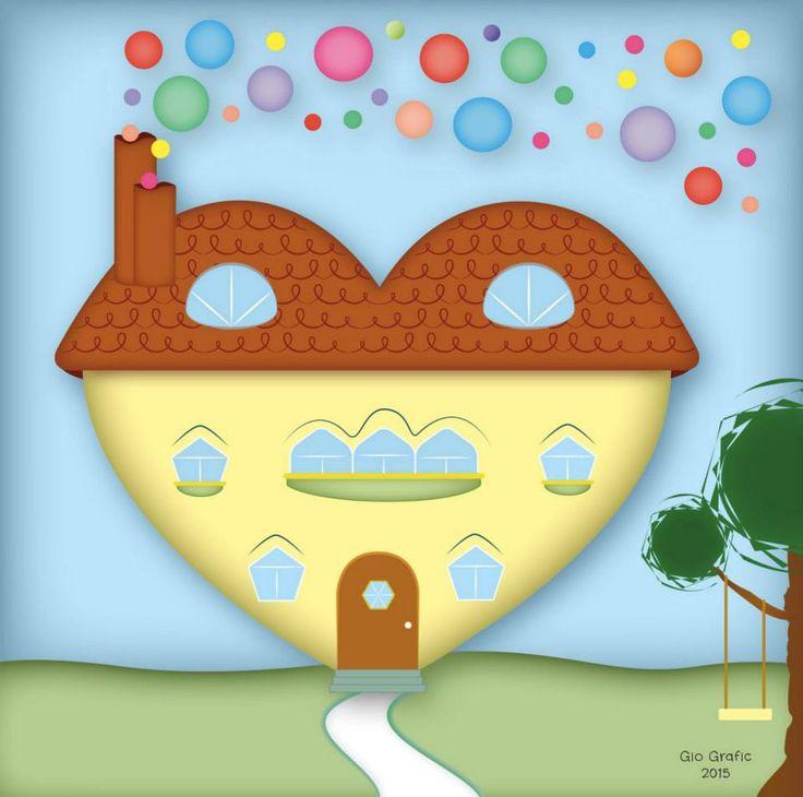 A volte il cuore si trasforma in una casa con una grande porta per accogliere pensieri, ricordi, desideri e aspirazioni; i comignoli dei camini emanano un profumo di buona volontà e allegria; finestre e balconi sono lì per vedere il mondo come un bambino; sul tetto due lucernari illuminano una soffitta, che custodisce pensieri, ricordi, desideri e aspirazioni conservati e consapevoli che, fino a quando ci saranno cuori grandi e aperti al possibile, potranno un giorno, di nuovo, risplendere.