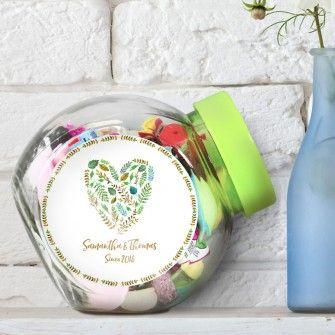 Personalised Heart Glass Sweet Jar