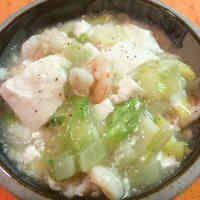 白菜たっぷり!海老と豆腐の中華あんかけ