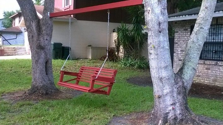 installing a swing between two trees 2