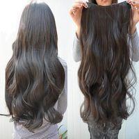 Um tipo de filamento de alta temperatura do cabelo pedaço de cabelo grosso extensão pedaço 6 clipe de comprimento 70 centímetros de largura 26 centímetros 180g de peso pré-venda f