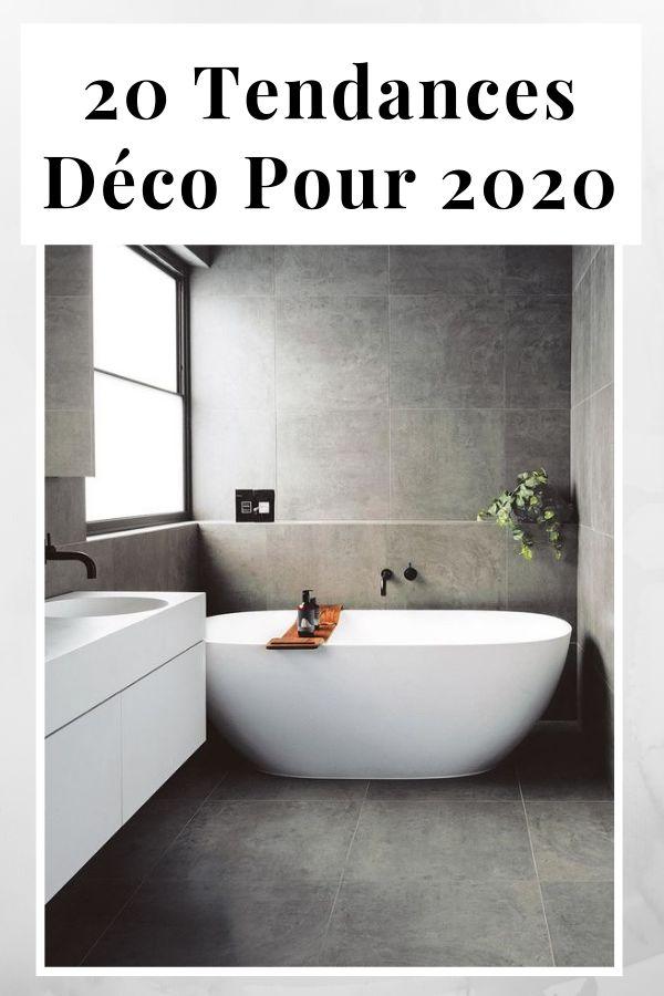 Tendance d co 2020 couleurs mati res id es - Tendance carrelage salle de bain 2020 ...