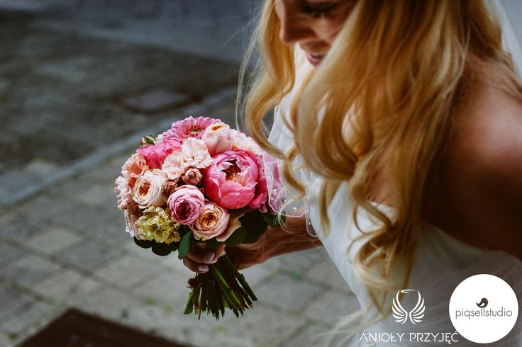 4. Fuchsia Orange Wedding, Wedding bouquet / Wesele fuksjowo-pomarańczowe, Bukiet, Anioły Przyjęć