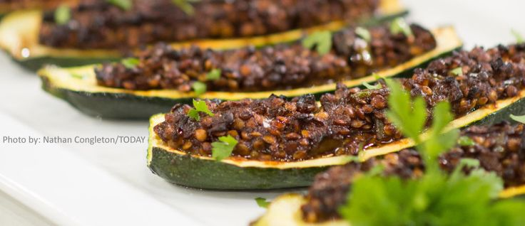 Lentil Sloppy Joes - Joy Bauer http://www.joybauer.com/healthy-recipes/lentil-sloppy-joe-zucchini-boats/?utm_source=Joy%27s+Healthy+Bite&utm_campaign=7b528014bb-Joy_Food_Big_Mac_and_Lentil_Sloppy_Joes6_24_2016&utm_medium=email&utm_term=0_c14ec072cd-7b528014bb-141853553