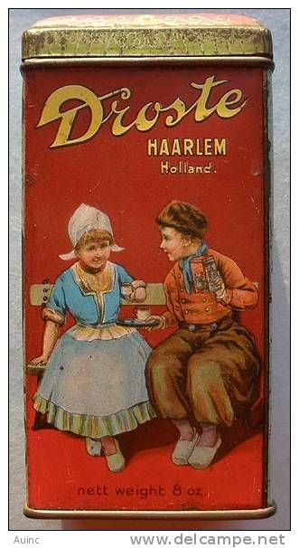 DROSTE'S COCOA Tin made in Holland, great old tins........I still bake with Droste's.