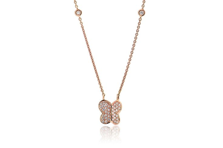 Κολιέ με διαμάντια μπριγιάν κοπής 0,15CT από ροζ χρυσό 18Κ Necklace with brilliant cut diamonds 0,15CT made by 18K rose gold. Price : 600 €