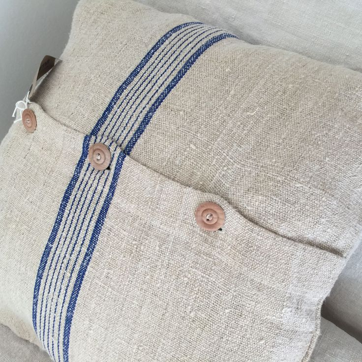 Cushion Cover from Vintage Grain Sack Fabric. 2 avail