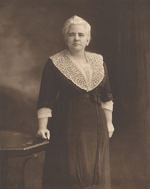 """Anna Howard Shaw (1847-1919). Shaw's life partner, Lucy Anthony, was Susan B. Anthony's niece, and """"Aunt Susan"""" sponsored Shaw's ascendancy in the National American Woman Suffrage Association as National Lecturer in 1890 and Vice President at Large in 1892."""
