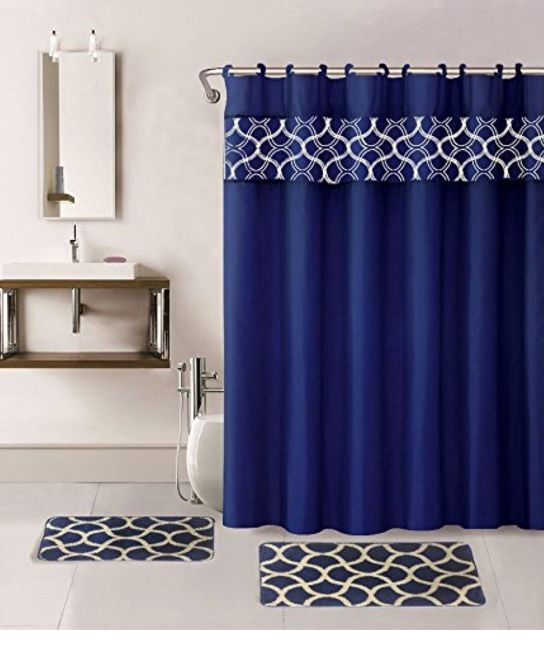 Navy Blue Shower Curtain Liner : Best Shower Curtain Ideas