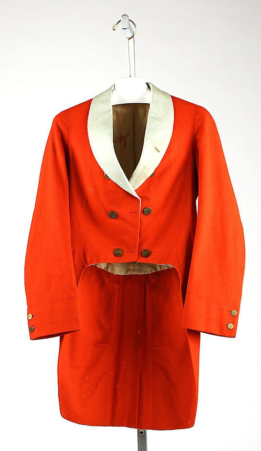 Late 19th Century Hunting Coat  Culture: American  Medium: wool, silk