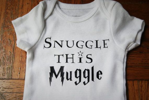 Snuggle This Muggle Harry Potter Inspired by SmoochieBabyBoutique