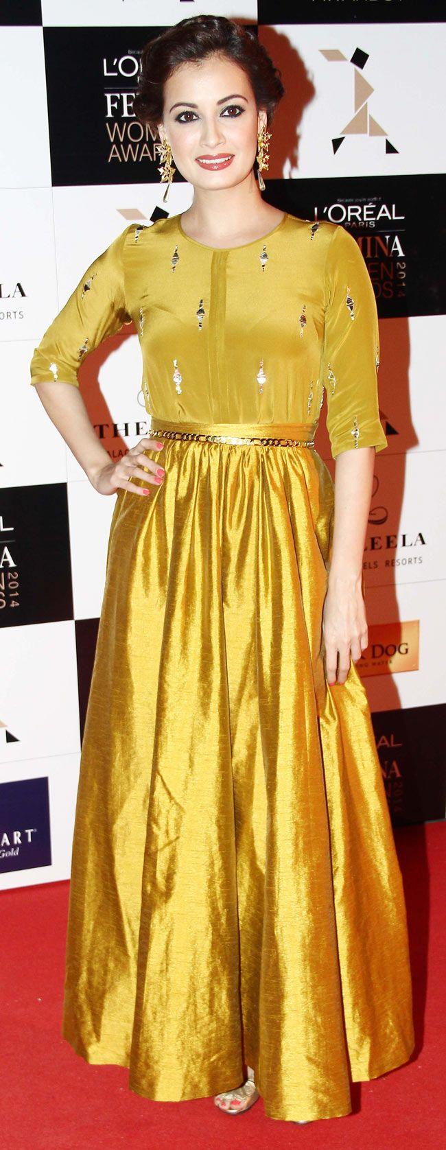 Dia Mirza at the L'Oreal Paris Femina Women Awards 2014. #Style #Bollywood #Fashion #Beauty