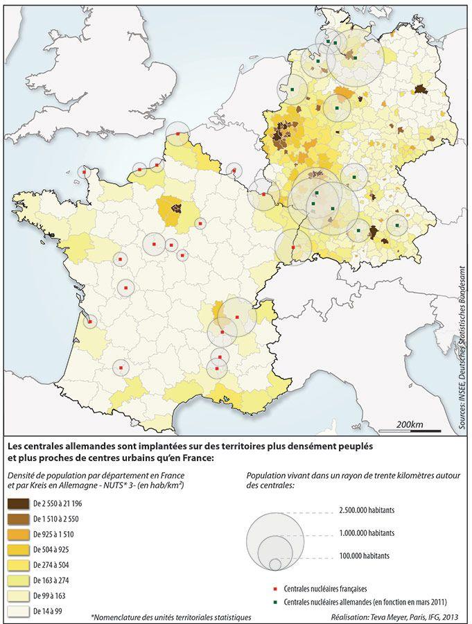 Teva Meyer Carte France Allemagne Population A Proximite D Une