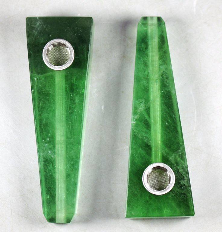 Drop shipping wholesale Natural Green Fluorite Stone tobacco stone pipe crystal bardian smoking pipe for sale