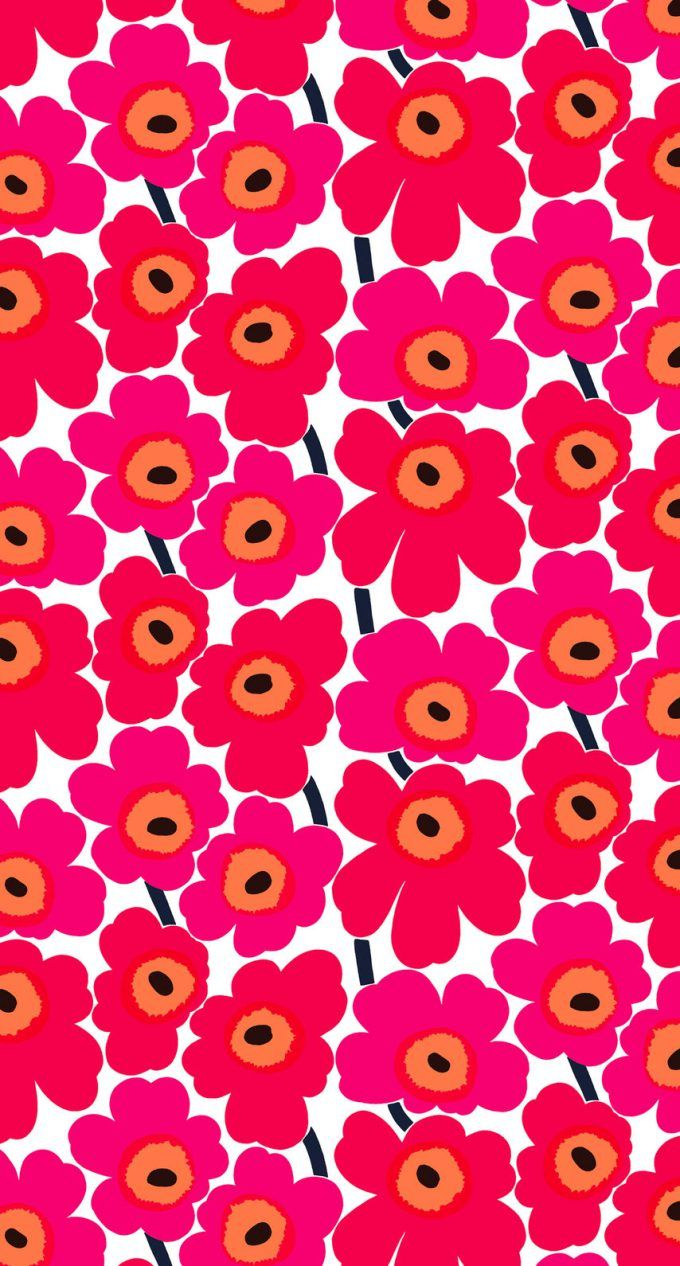 マリメッコ/ウニッコ01 iPhone壁紙 Wallpaper Backgrounds iPhone6/6S and Plus Marimekko Unikko iPhone Wallpaper もっと見る