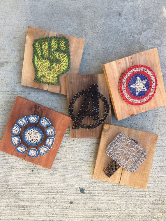 Made to Order - Marvel Set - Nail and String Art on Etsy, $110.00