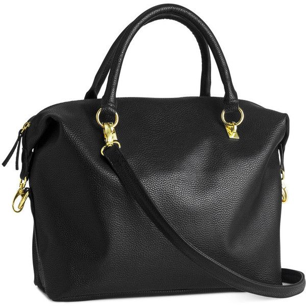 H&M Handbag ($23) ❤ liked on Polyvore featuring bags, handbags, purses, h&m, black, h&m purses, black purse, h&m handbags, h&m bags and black bag