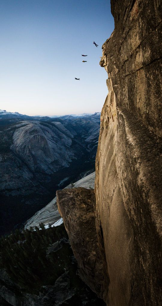 Take your parachute and jump Photographer: Jimmy Chin  Location: Yosemite, CA, USA