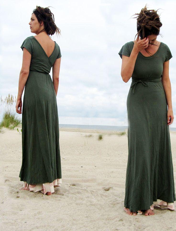 Gaia Conceptions - Flip Wrap Long Dress, $155.00 (http://www.gaiaconceptions.com/flip-wrap-long-dress/)