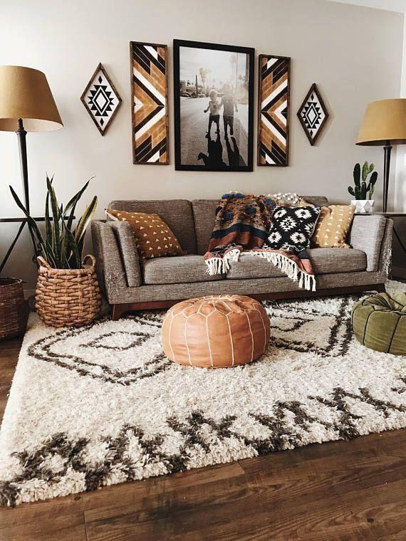 Dark Carved Wood Panels Set Of Two Rustic Living Room Boho Living Room Apartment Decor