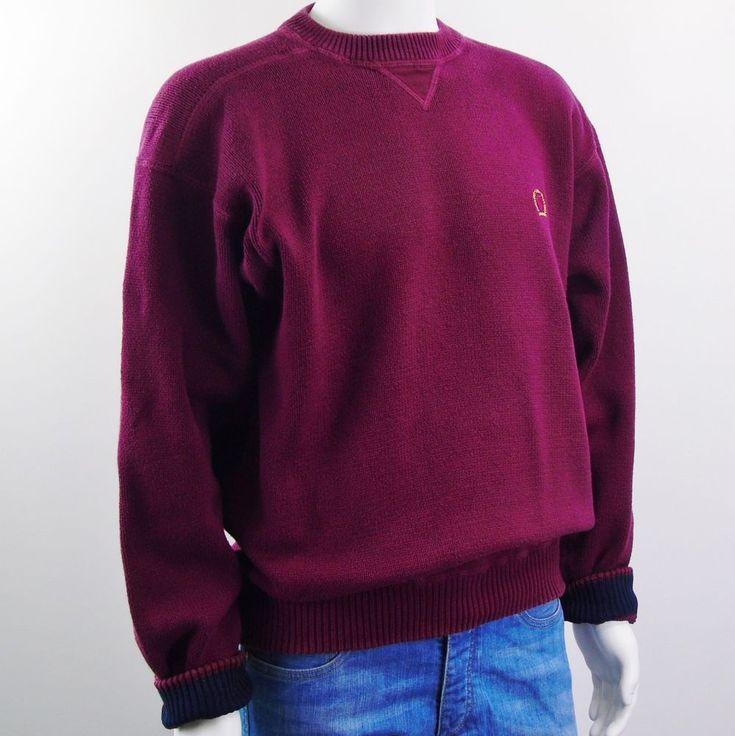 Tommy Hilfiger Mens Vintage Cotton Pullover Sweater Hip Hop Lion Logo Sz Large   #TommyHilfiger #Crewneck