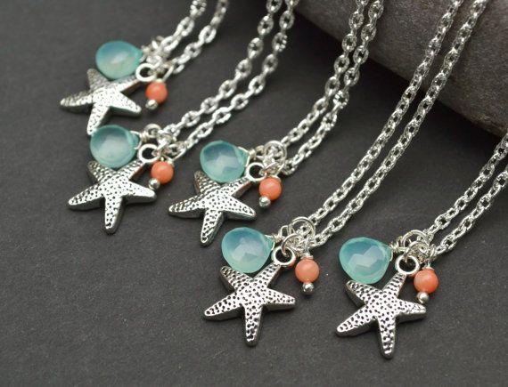 Starfish Necklace Silver Sea Star with by ArtemisBridalJewelry, $16.00