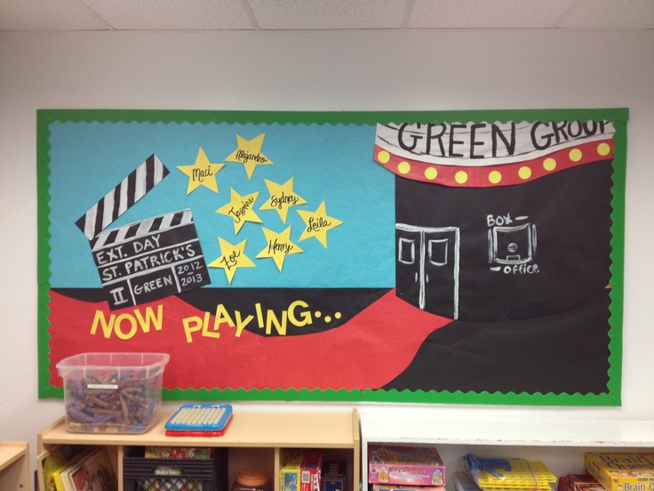 Circus Classroom Decoration ~ Our movie themed bulletin board boards