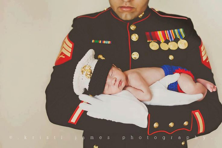 Crochet USMC Hat with Matching Diaper Cover Newborn-3-6Mo Made to Order Photography Prop.