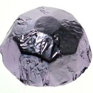 A 1kg bag of Foiled Chocolate Diamonds Lilac.