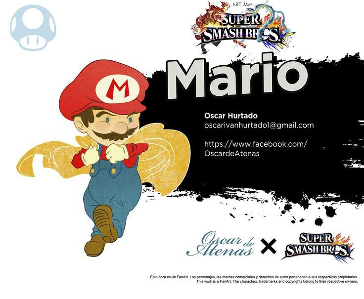 Super Smash Bros x Art Jam (Wii U Version) - Mario by Oscar Hurtado