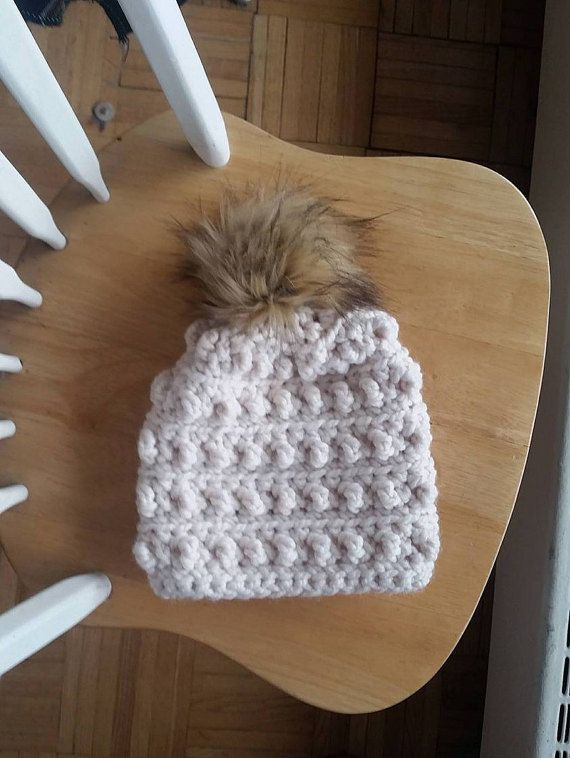 Hey, I found this really awesome Etsy listing at https://www.etsy.com/ca/listing/495063160/slouchy-crochet-bobble-hat-chunky-bobble