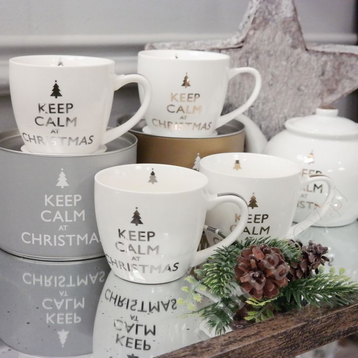 MINT GREY New York Style Interiors | produkty - dekoracje świąteczne Kubek KEEP CALM AT CHRISTMAS; Jumbo Mug; Christmas Time