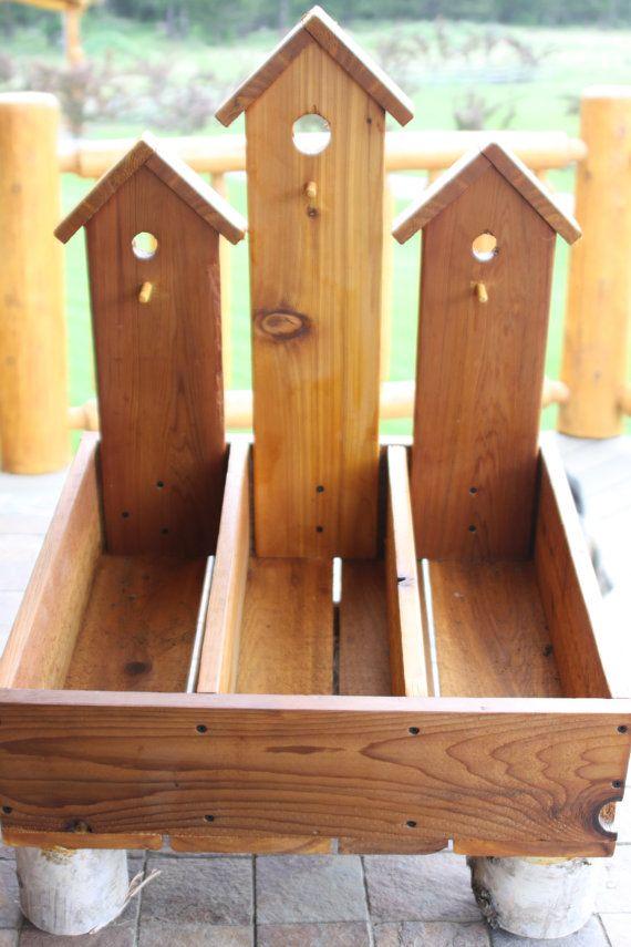 bird house planters.