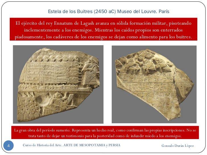 Estela de los Buitres (2450 aC) Museo del Louvre. París Gonzalo Durán López Curso de Historia del Arte. ARTE DE MESOPOTAMI...