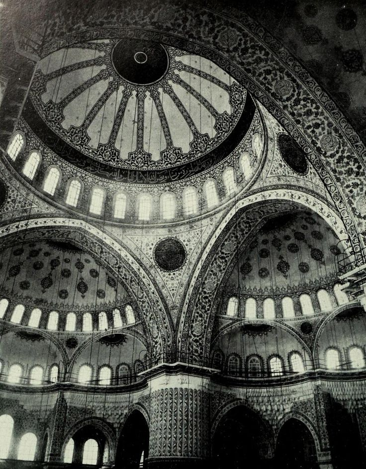Inside the Mosque of Ahmed I, Istanbul