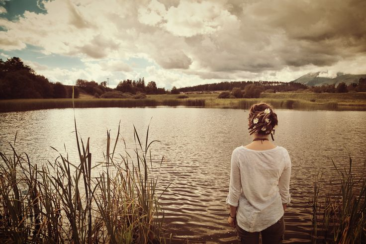 Lake #dreadlocks #flowers #hairstyle #lake #water #view