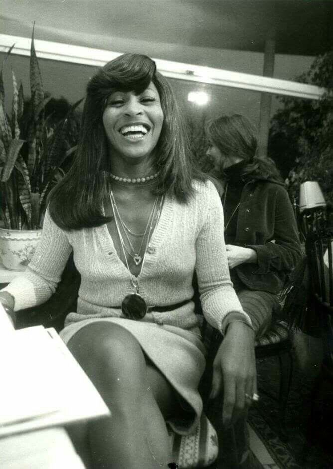Ike and Tina Turner at a party